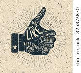 like. hand drawn vector... | Shutterstock .eps vector #325376870