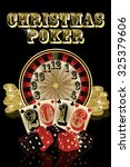 christmas poker new year 2016 ... | Shutterstock .eps vector #325379606