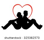 man and woman   young couple in ...   Shutterstock . vector #325382573