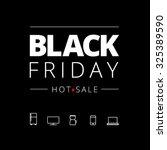 black friday hot sale  | Shutterstock .eps vector #325389590