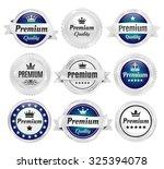 silver premium quality badges | Shutterstock .eps vector #325394078