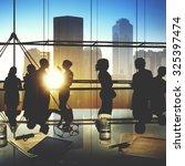 business people meeting... | Shutterstock . vector #325397474