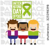 friends together for peace | Shutterstock .eps vector #325398398