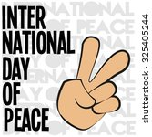 hand making peace sign | Shutterstock .eps vector #325405244