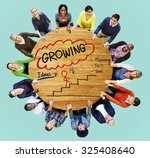 growing growth mission success... | Shutterstock . vector #325408640