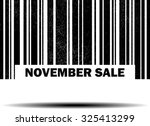 november sale with barcode and... | Shutterstock . vector #325413299