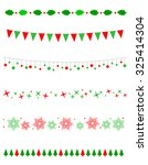collection on christmas borders ... | Shutterstock . vector #325414304