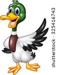 cute baby duck waving hand    Shutterstock . vector #325416743