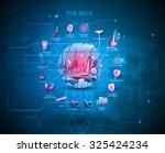 skin anatomy structure... | Shutterstock .eps vector #325424234