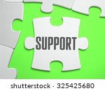 support    jigsaw puzzle with... | Shutterstock . vector #325425680