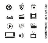 cinema sign and symbol set.... | Shutterstock . vector #325426730