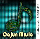 cajun music showing sound... | Shutterstock . vector #325435358