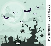 halloween background   | Shutterstock .eps vector #325436138