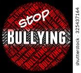 stop bullying indicating push... | Shutterstock . vector #325437164