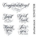 vector lettering set for... | Shutterstock .eps vector #325437338