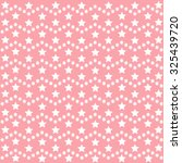 pink stars pattern. cute vector ... | Shutterstock .eps vector #325439720
