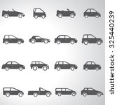 car icons set illustration | Shutterstock .eps vector #325440239