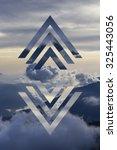 abstract sky geometric... | Shutterstock . vector #325443056