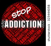 stop addiction representing... | Shutterstock . vector #325444058