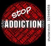 stop addiction representing... | Shutterstock . vector #325444058