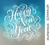 happy new year vector text on... | Shutterstock .eps vector #325444139