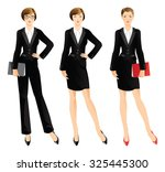business woman or professor in... | Shutterstock .eps vector #325445300