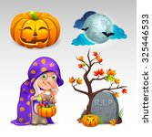 halloween set | Shutterstock .eps vector #325446533