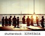 back lit business people... | Shutterstock . vector #325453616