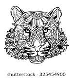 zentangle tiger vector... | Shutterstock .eps vector #325454900