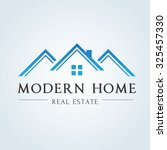 modern home  real estate logo... | Shutterstock .eps vector #325457330