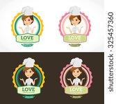 love cooking logo vector logo...