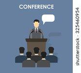 conference design concept set... | Shutterstock .eps vector #325460954
