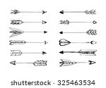 hand drawn vector arrows with... | Shutterstock .eps vector #325463534