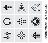 vector arrows icon set on grey... | Shutterstock .eps vector #325466633