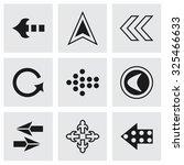 vector arrows icon set on grey... | Shutterstock .eps vector #325466633