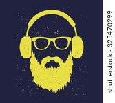man with a beard wearing... | Shutterstock .eps vector #325470299