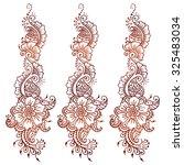 vector ethnic mehndi pattern.... | Shutterstock .eps vector #325483034