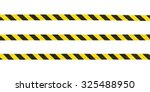 yellow and black striped hazard ... | Shutterstock . vector #325488950