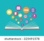 online education theme design ... | Shutterstock .eps vector #325491578