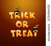 stylish shiny text trick or... | Shutterstock .eps vector #325496420