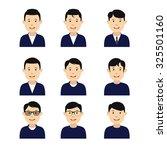 avatars men. cute and flat...   Shutterstock .eps vector #325501160