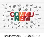 political concept  painted... | Shutterstock . vector #325506110