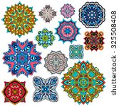 mandalas collection. round... | Shutterstock .eps vector #325508408