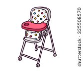 baby feeding chair  bright... | Shutterstock .eps vector #325508570