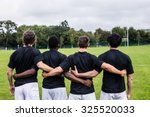 rugby players standing together ... | Shutterstock . vector #325520033