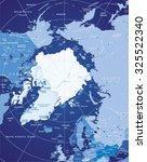 vector map of arctic | Shutterstock .eps vector #325522340