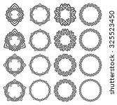 set of round frames. sixteen... | Shutterstock .eps vector #325523450