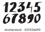 numbers. ink drawn illustration.... | Shutterstock .eps vector #325526690