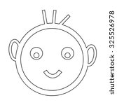 happy kid icon | Shutterstock .eps vector #325526978
