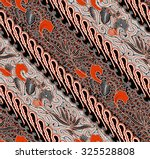 seamless floral beautiful batik ... | Shutterstock . vector #325528808